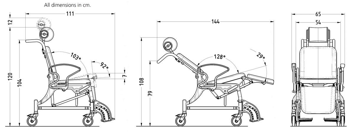Rebotec Phoenix – Tilt in Place Comfort Shower Commode Chair